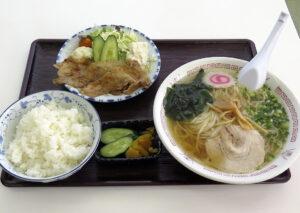 光楽 ラーメン定食(焼肉付き)