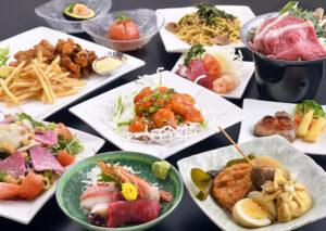 おでん処 よねや西口店 写真の宴会コースは、一番人気の3,500円コースです お料理の内容は、季節により変更となります